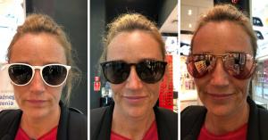 przymierzanie okularów